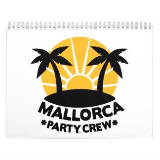 Mallorca Party Crew Wall Calendars