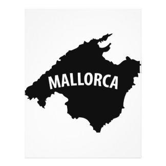 mallorca spain contour icon flyer