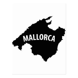 mallorca spain contour icon postcard