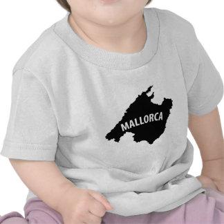 mallorca spain contour icon tee shirt