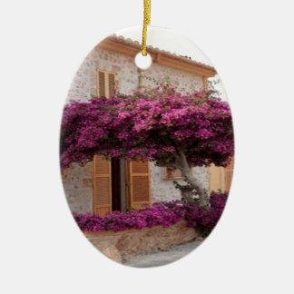 Mallorca tree nature design ceramic ornament