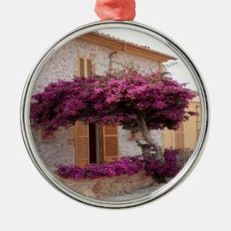 Mallorca tree nature design metal ornament