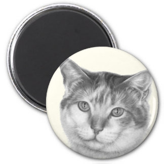 Mallory, Calico Cat 2 Inch Round Magnet