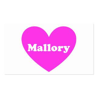 Mallory Tarjeta Personal