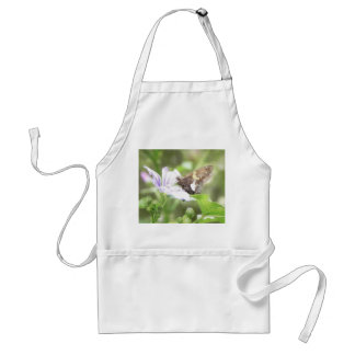 Mallow Flower and Silver-Spotted Skipper Adult Apron