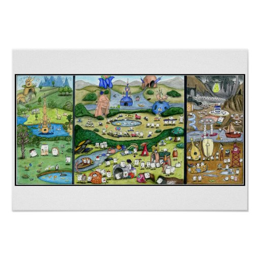 Mallow Garden Of Earthly Delights Poster Zazzle