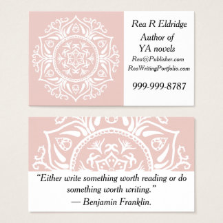 Mallow Mandala Business Card