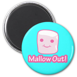 Mallow Out! 2 Inch Round Magnet