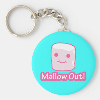 Mallow Out! Basic Round Button Keychain