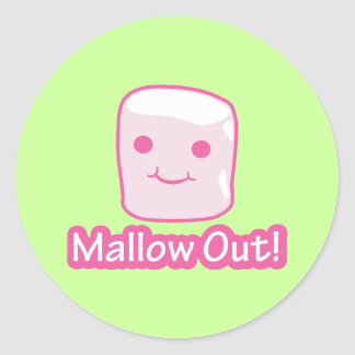 Mallow Out! Classic Round Sticker