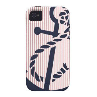Mally Mac NAUTICAL Anchor stripe iphone 4 4s case Case-Mate iPhone 4 Cases