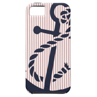 Mally Mac NAUTICAL Anchor stripe iphone 5  case iPhone 5 Covers