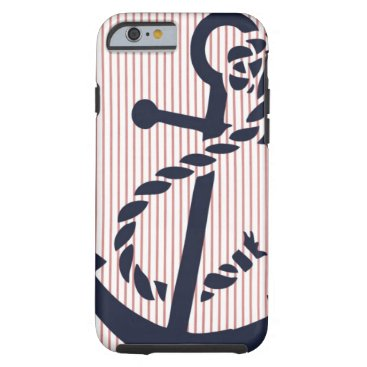 Mally Mac NAUTICAL Anchor stripe iPhone 6 case