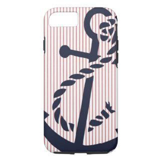 Mally Mac NAUTICAL Anchor stripe iPhone 7 case