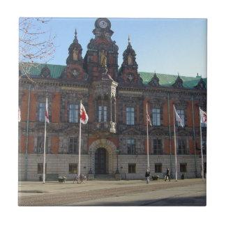 Malmö Suecia - ayuntamiento Azulejo Cuadrado Pequeño