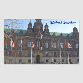 Malmö Suecia - ayuntamiento Pegatina Rectangular