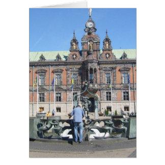 Malmö Suecia - ayuntamiento Tarjeta De Felicitación