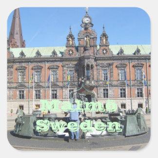 Malmö Sweden - City Hall Square Sticker
