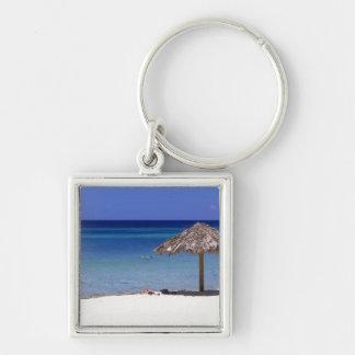 Malmok Beach, Aruba, Netherlands Antilles Silver-Colored Square Keychain
