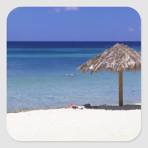 Malmok Beach, Aruba, Netherlands Antilles Square Sticker