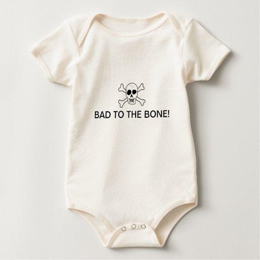Malo a la camisa del bebé del hueso