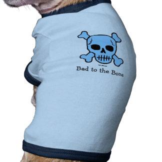 Malo a la camiseta del perro del hueso ropa perro