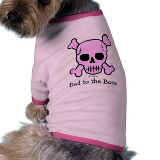 Malo a la camiseta del perro del hueso camisetas de perro