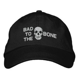 Malo al gorra bordado cráneo del hueso gorro bordado