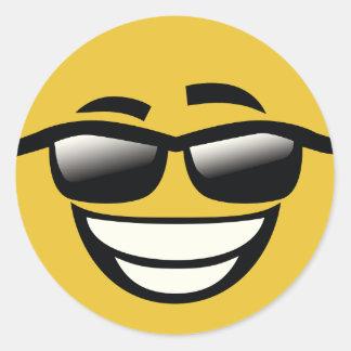 Malo al individuo fresco Emoji del hueso Pegatina Redonda