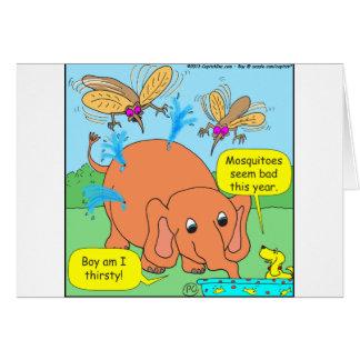 malo de 479 mosquitos este dibujo animado del año tarjeta de felicitación