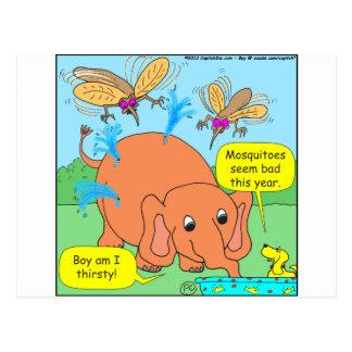 malo de 479 mosquitos este dibujo animado del año tarjeta postal