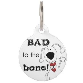 Malo de encargo a la placa de identificación placas de mascota