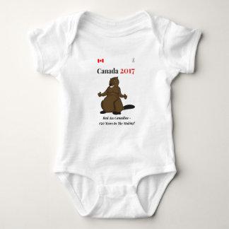 Malo del castor de Canadá 150 en 2017 Body Para Bebé