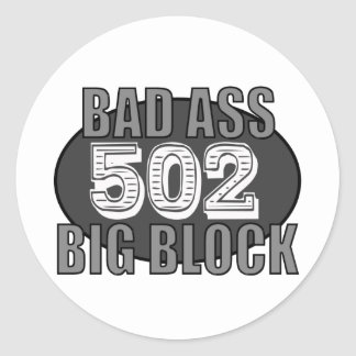 malo grande 502 del bloque pegatina redonda