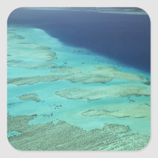 Malolo Barrier Reef off Malolo Island, Fiji 2 Square Sticker