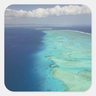 Malolo Barrier Reef off Malolo Island, Fiji Square Sticker