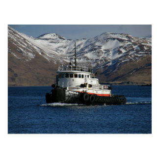 Malolo, remolcador en el puerto holandés, AK Postal