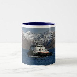Malolo, Tugboat in Dutch Harbor, AK Two-Tone Coffee Mug