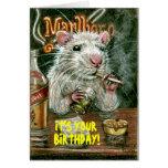Malos hábitos de la rata que fuman la tarjeta de c