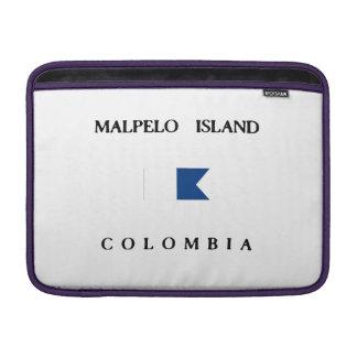 Malpelo Island Colombia Alpha Dive Flag MacBook Air Sleeves