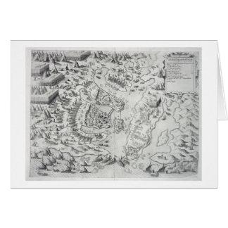 Malta besieged by the Infidel, from 'Della Archite Card
