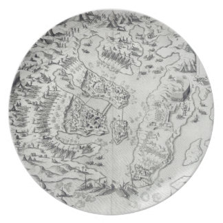Malta besieged by the Infidel, from 'Della Archite Dinner Plate