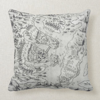 Malta besieged by the Infidel, from 'Della Archite Pillow