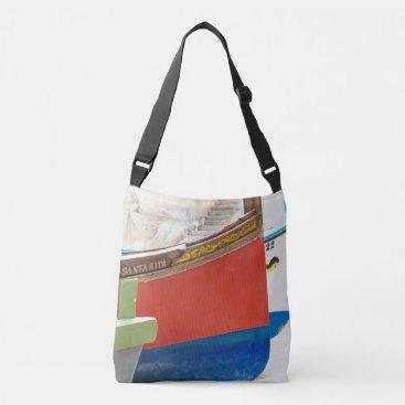 Beach Themed Malta – Boats Crossbody Bag