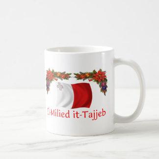Malta Christmas Classic White Coffee Mug