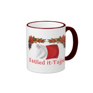 Malta Christmas Ringer Coffee Mug