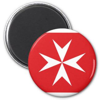 Malta civil ensign 2 inch round magnet