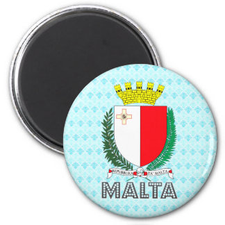 Malta Coat of Arms 2 Inch Round Magnet