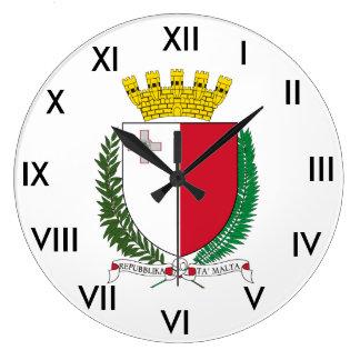 Malta Coat of Arms Clock