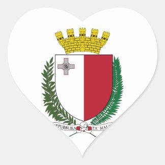 Malta Coat of Arms Heart Sticker
